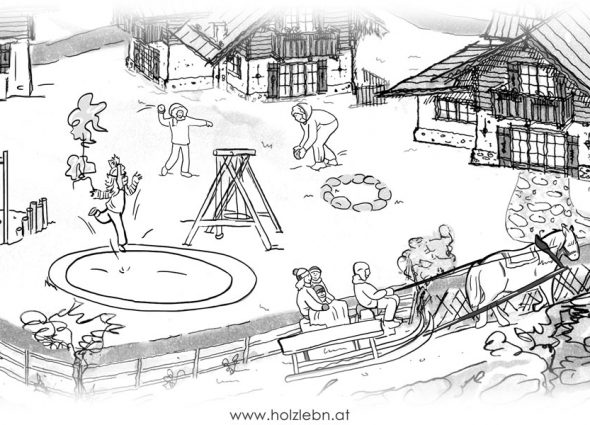 Holzleb N Malvorlagen Fur Kinder Fur Den Urlaub Am Bauernhof